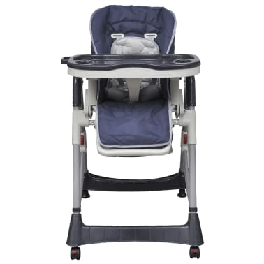 Baby High Chair Deluxe Dark Blue Height Adjustable[2/9]
