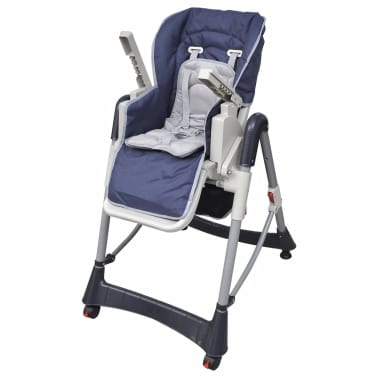 Baby High Chair Deluxe Dark Blue Height Adjustable[6/9]