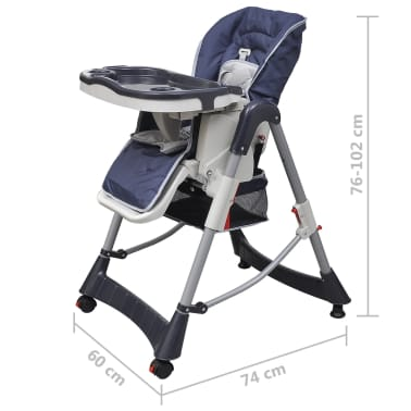 Baby High Chair Deluxe Dark Blue Height Adjustable[9/9]