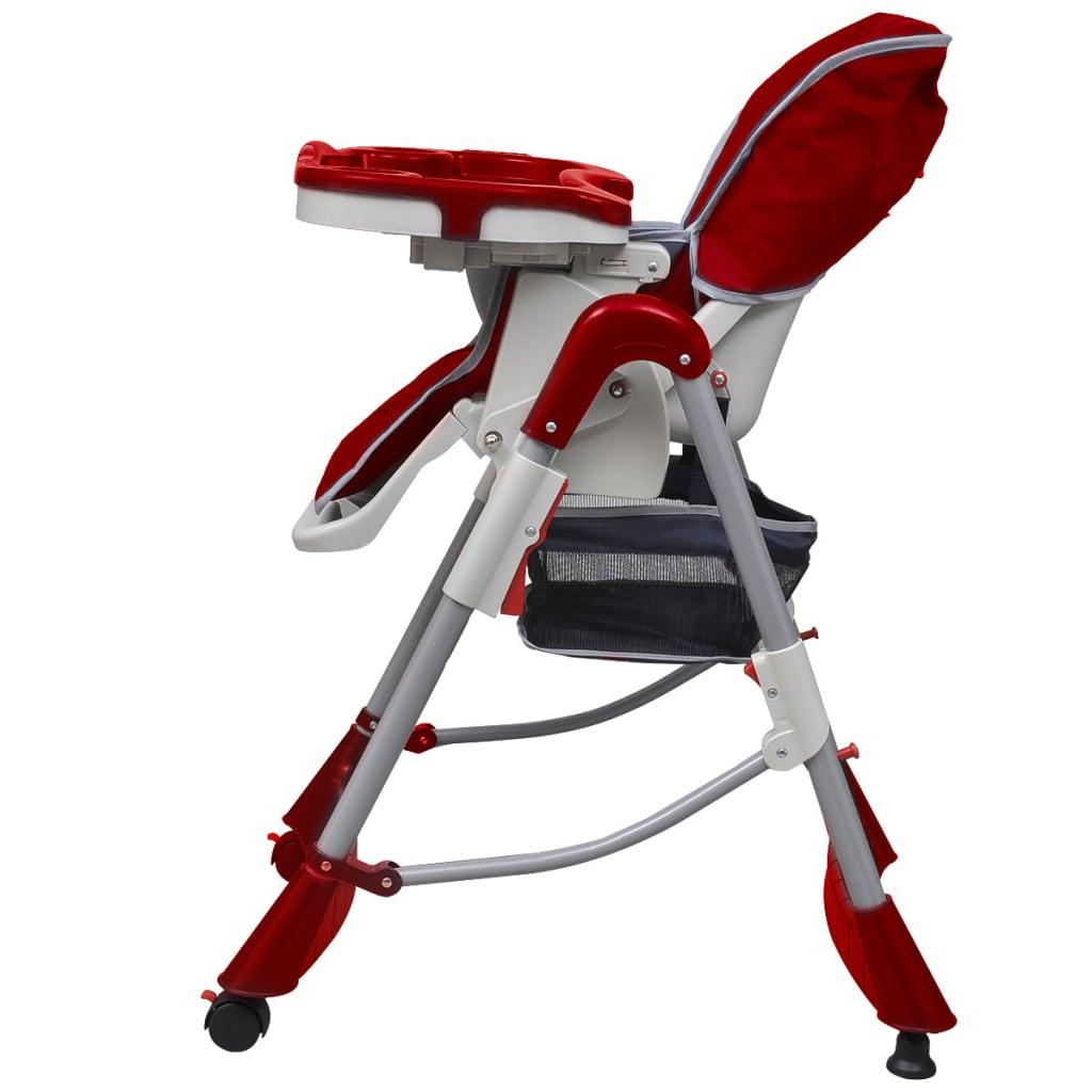 Dětská vysoká židle výškově nastavitelná Deluxe, vínová