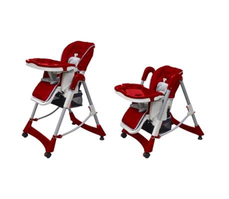 vidaxl chaise haute pour b b s bordeaux hauteur r glable. Black Bedroom Furniture Sets. Home Design Ideas