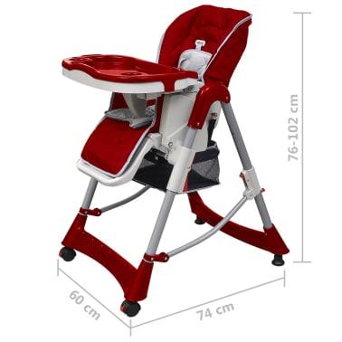 acheter vidaxl chaise haute pour b b s bordeaux hauteur r glable pas cher. Black Bedroom Furniture Sets. Home Design Ideas