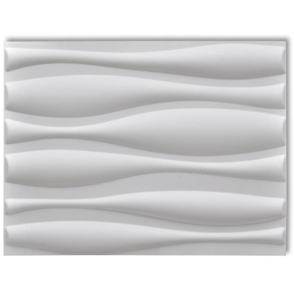 Afbeelding van vidaXL 12 x 3D wandpanelen (golvend motief) 0,625 m x 0,8 m - 6 m²