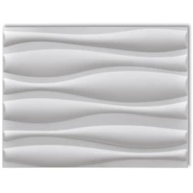 3D Sienų Plokštės, Banga, 0,625 m x 0,8 m, 12 Plokščių, 6 m²[2/9]