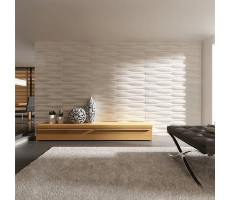 3D Sienų Plokštės, Banga, 0,625 m x 0,8 m, 12 Plokščių, 6 m²[3/9]