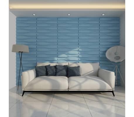 3D Sienų Plokštės, Banga, 0,625 m x 0,8 m, 12 Plokščių, 6 m²[4/9]