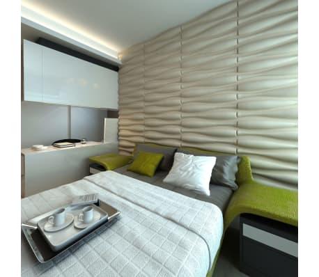 3D Sienų Plokštės, Banga, 0,625 m x 0,8 m, 12 Plokščių, 6 m²[5/9]