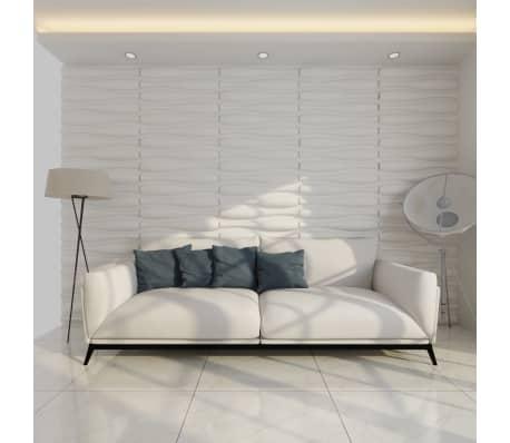 3D Sienų Plokštės, Banga, 0,625 m x 0,8 m, 12 Plokščių, 6 m²[1/9]