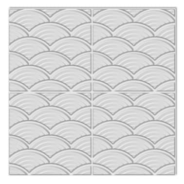 Väggpanel mönster bågar 50x50 cm, 24-pack 6m²[2/7]
