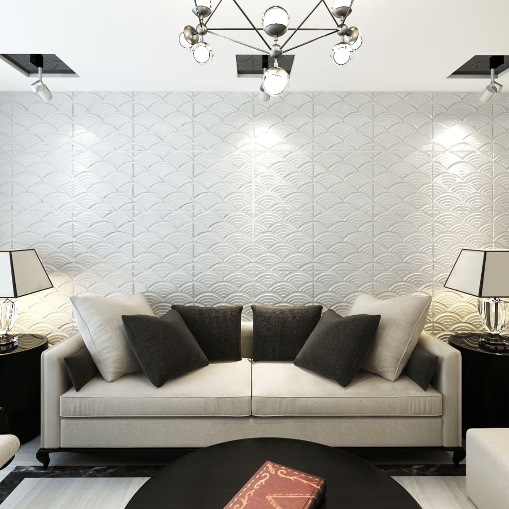 Obkladové panely 3D s obloučky, 0,5 m x 0,5 m, 24 panelů, 6 m²
