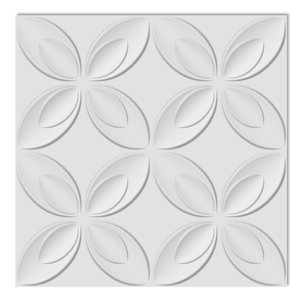 Afbeelding van vidaXL 66 x 3D wandpanelen (bloemenmotief) 0,3 m x 0,3 m - 6 m²