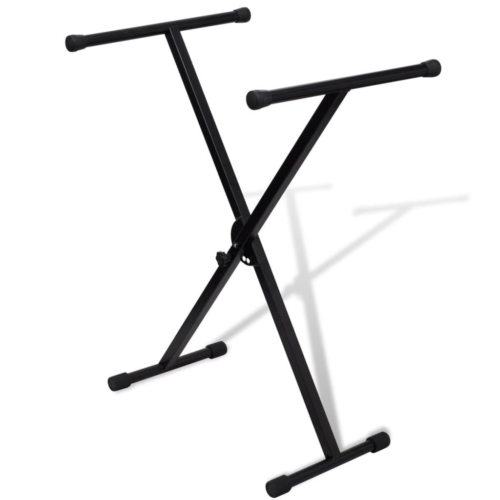 vidaXL Adjustable Single Braced Keyboard Stand X-Frame