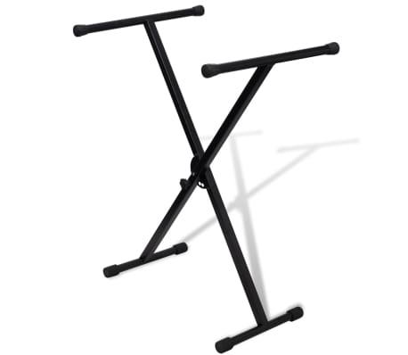 Adjustable Single Braced Keyboard Stand X-Frame