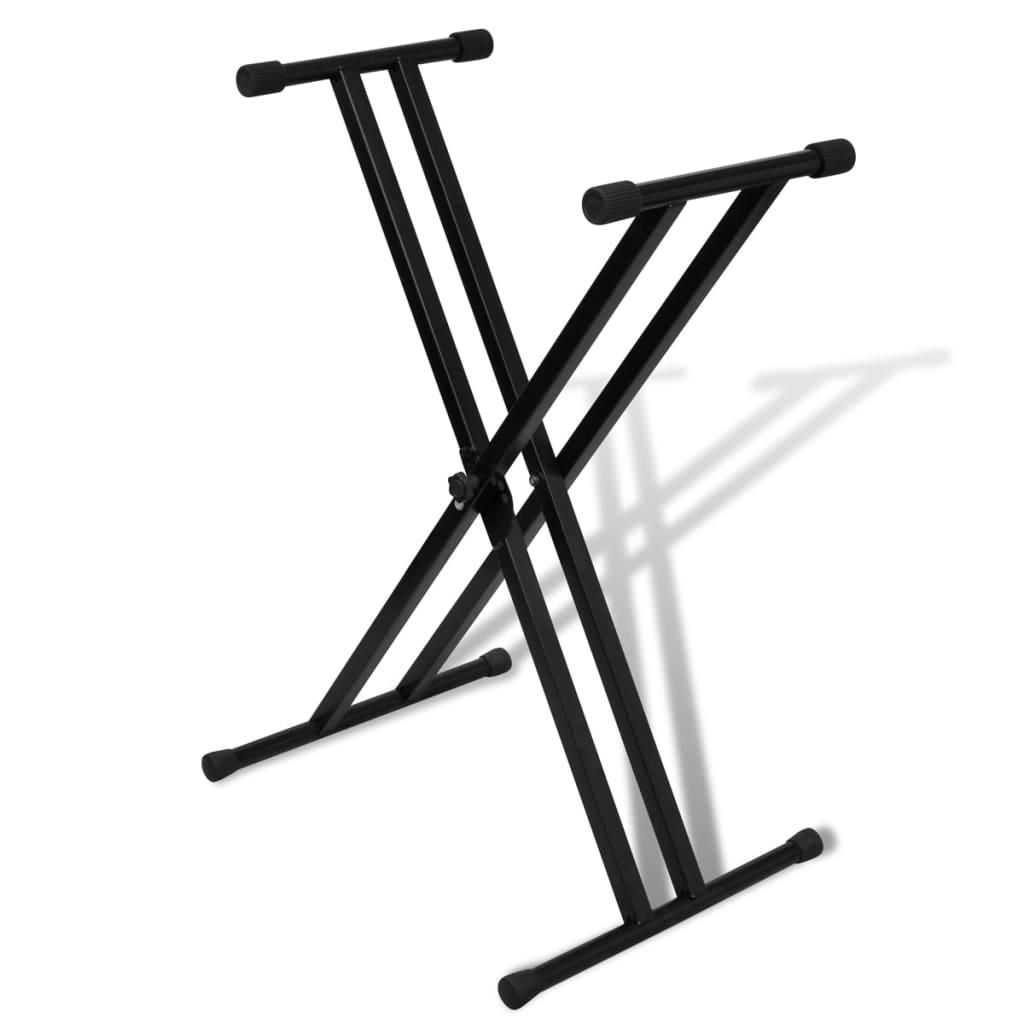 Stativ claviatură reglabil cadru cu brațe duble poza 2021 vidaXL