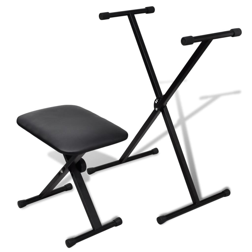 Nastavitelný stojan na keyboard se židličkou