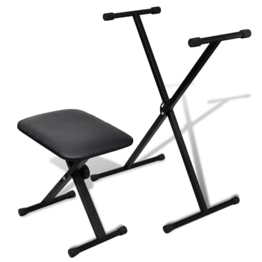 vidaXL Adjustable Keyboard Stand and Stool Set[1/10]