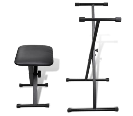 vidaXL Adjustable Keyboard Stand and Stool Set[2/10]