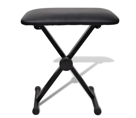 vidaXL Adjustable Keyboard Stand and Stool Set[7/10]