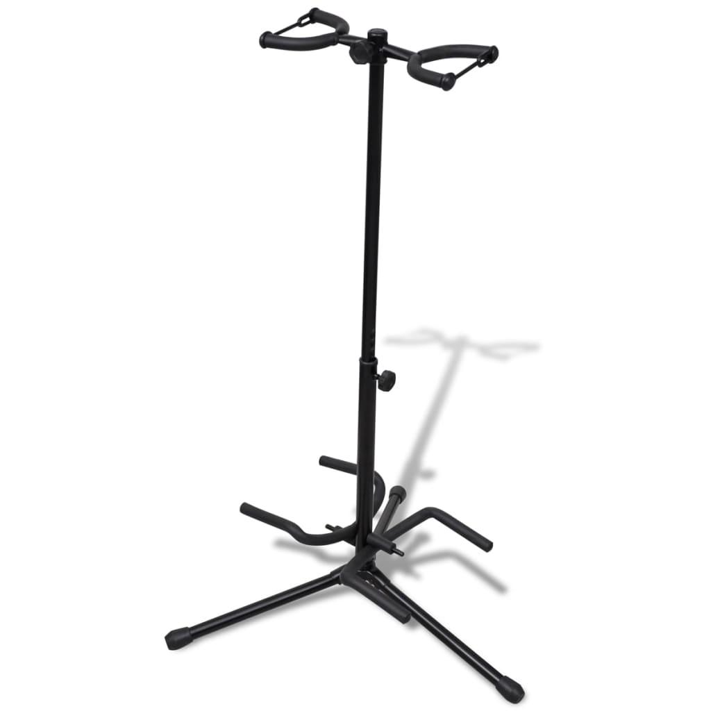 Kytarový stojan pro dvě kytary skládací