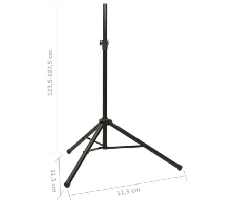 2x Lautsprecherständer Mikrofonstativ Stativ Ständer[7/7]