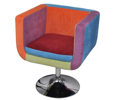 vidaXL Cube Armchair with Patchwork Design Fabric[1/6]