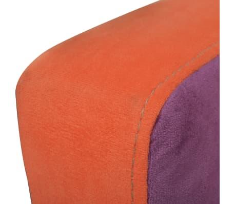 vidaXL Cube Armchair with Patchwork Design Fabric[4/6]