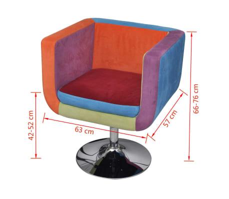 vidaXL Cube Armchair with Patchwork Design Fabric[6/6]
