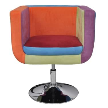 vidaXL Cube Armchair with Patchwork Design Fabric[2/6]