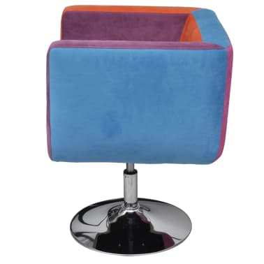 vidaXL Cube Armchair with Patchwork Design Fabric[3/6]