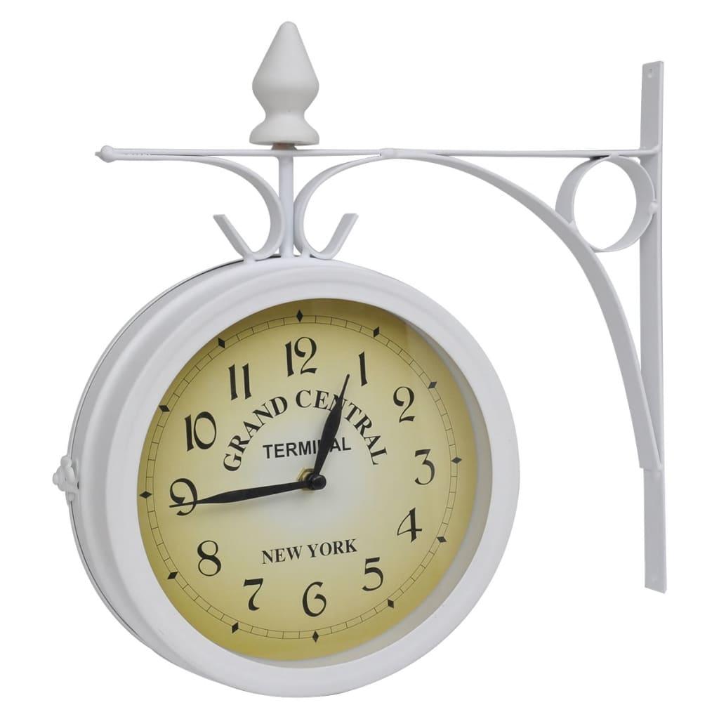 Ceas de gară pentru perete cu două fețe vidaxl.ro