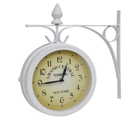 Zegar ścienny w stylu retro (Biały)[1/5]