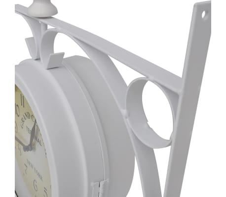 Zegar ścienny w stylu retro (Biały)[2/5]