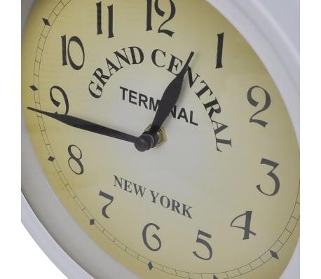 Zegar ścienny w stylu retro (Biały)[3/5]