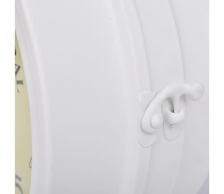 Zegar ścienny w stylu retro (Biały)[4/5]