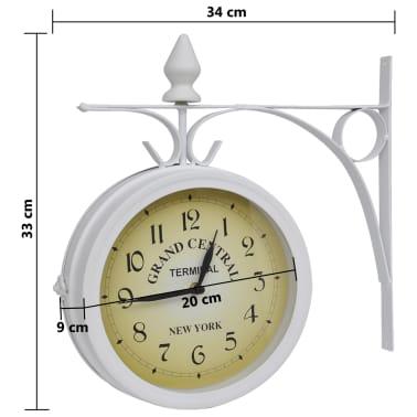 Zegar ścienny w stylu retro (Biały)[5/5]