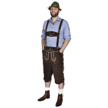 vidaXL Lederhosen met hoed voor Oktoberfest maat L[1/5]