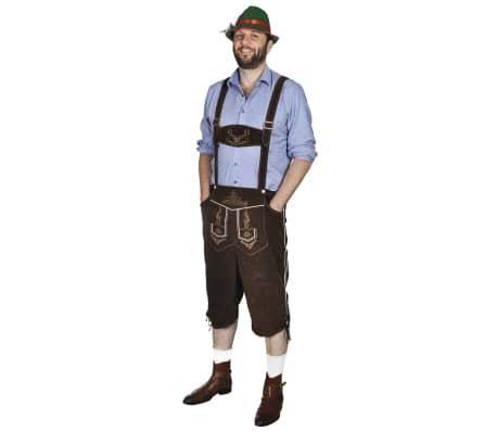vidaXL Lederhosen met hoed voor Oktoberfest maat XL[1/5]
