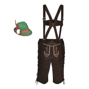 vidaXL Lederhosen met hoed voor Oktoberfest maat XL[2/5]
