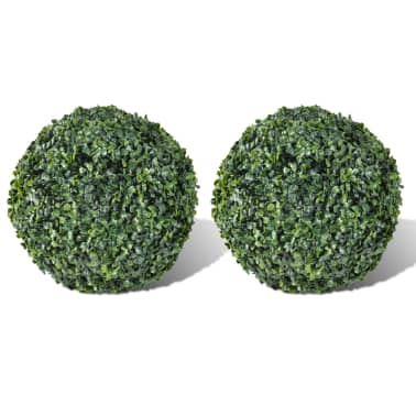 "Boxwood Ball Artificial Leaf Topiary Ball 10.6"" 2 pcs[1/3]"