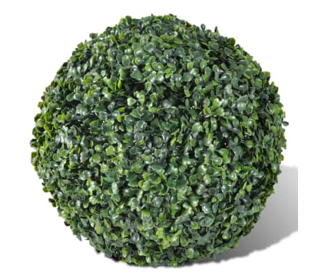 "Boxwood Ball Artificial Leaf Topiary Ball 10.6"" 2 pcs[2/3]"