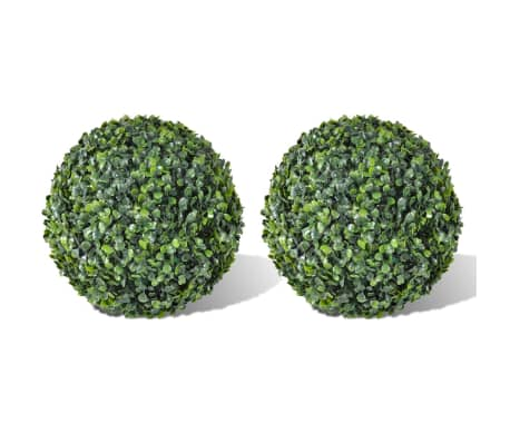 "Boxwood Ball Artificial Leaf Topiary Ball 13.8"" 2 pcs[1/3]"