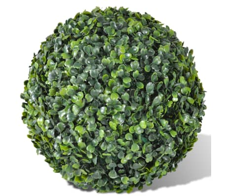 "Boxwood Ball Artificial Leaf Topiary Ball 13.8"" 2 pcs[2/3]"