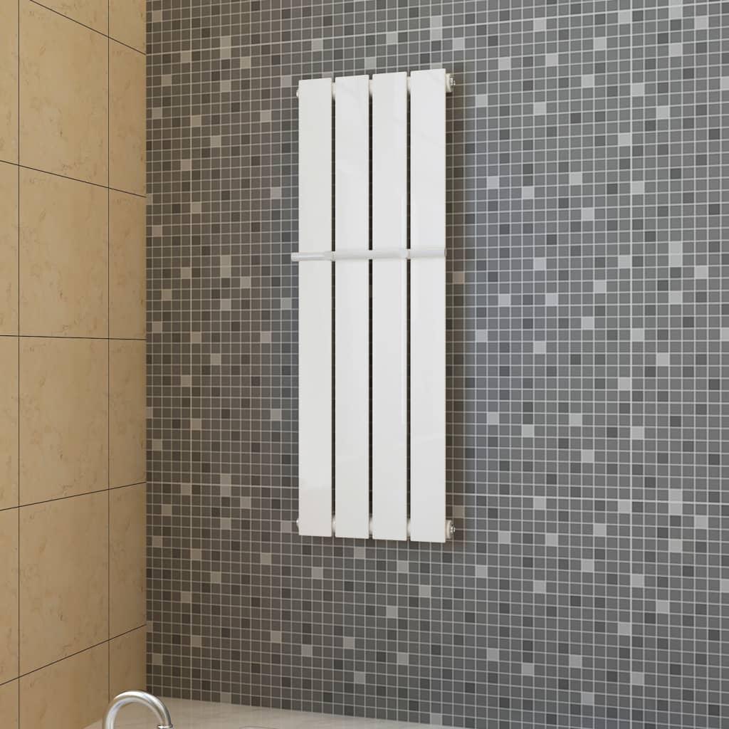 Lamelový radiátor bílý 311 mm x 900 mm + tyč na ručníky 311 mm