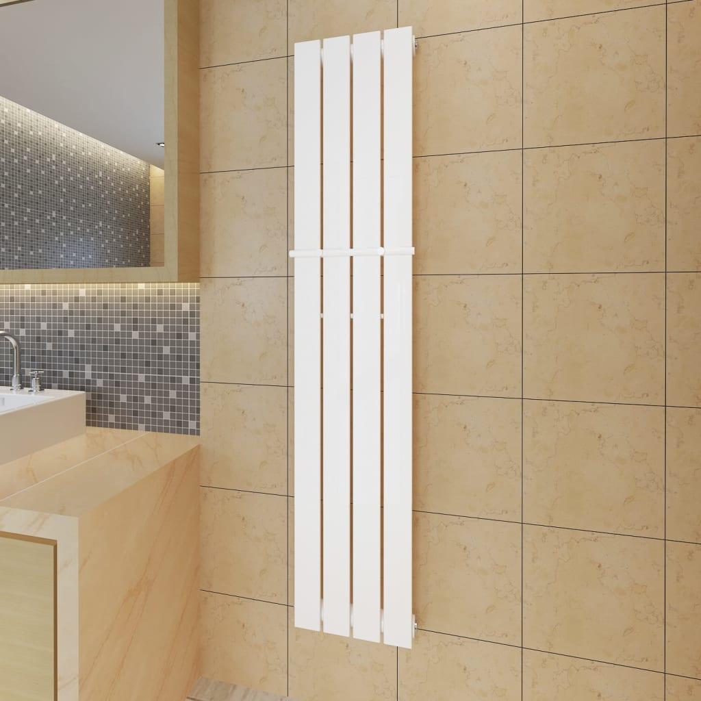 Lamelový radiátor bílý 311 mm x 1500 mm + tyč na ručníky 311 mm