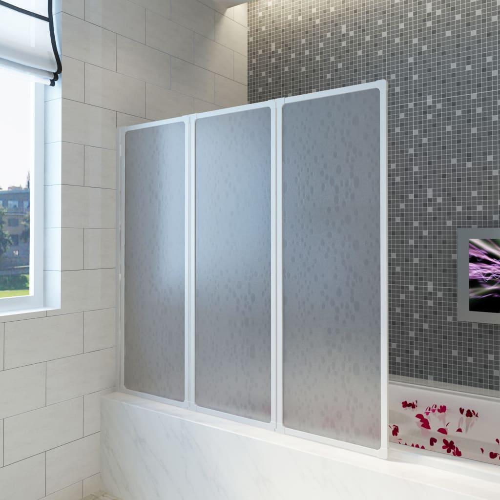 Sprchová a vanová zástěna 117 x 120 cm 3 panely skládací