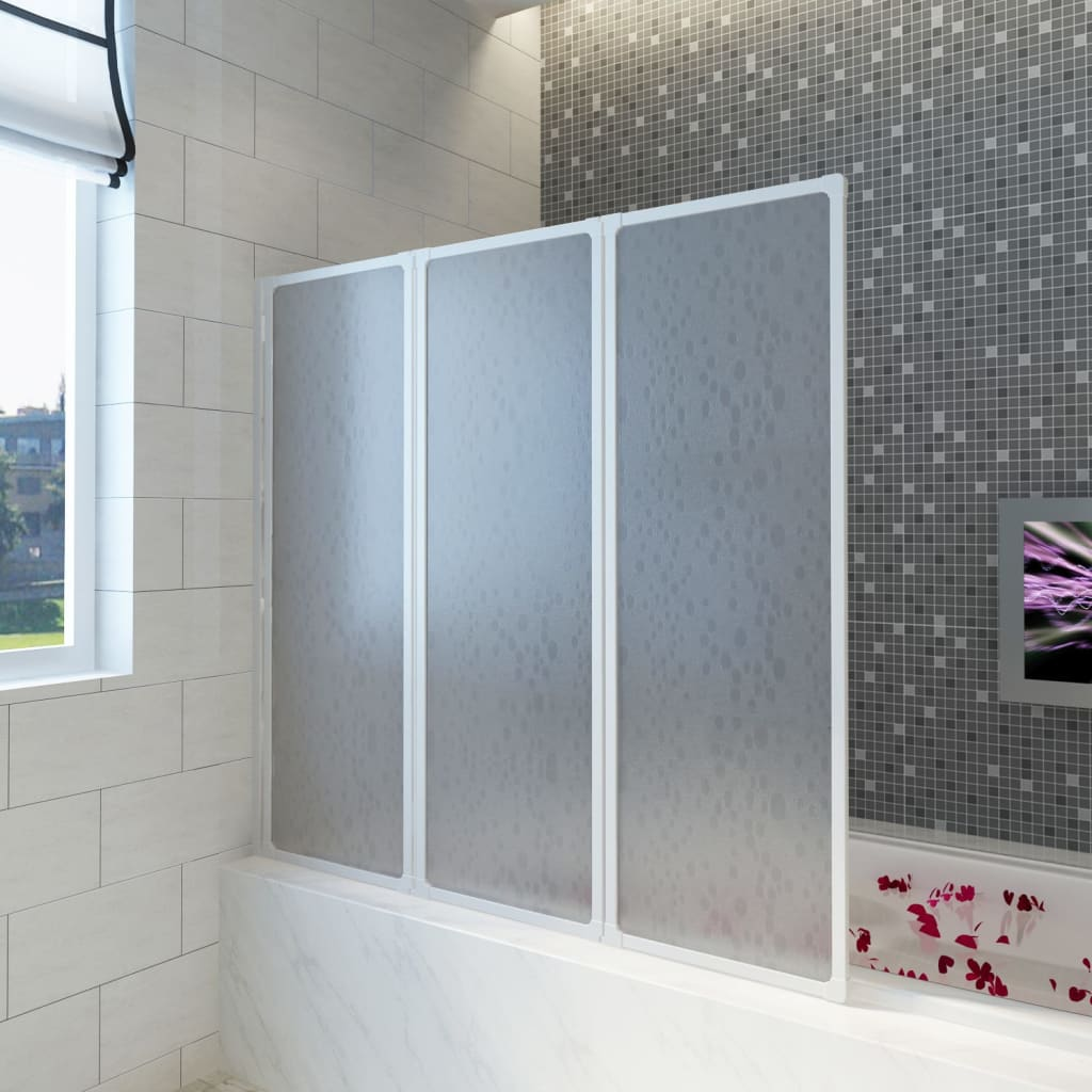 999140785 Badewannen Faltwand Duschabtrennung 141 x 132 cm