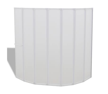 Dušo, Vonios Pertvara, 140 x 168 cm, 7 Sulankstomos Dalys, su Kabykla[2/6]