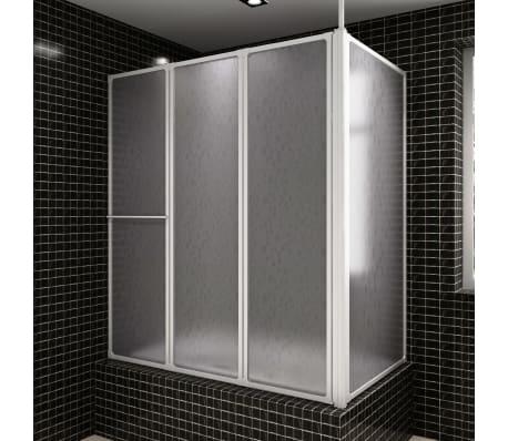 Shower Bath Screen Wall L Shape 70 x 120 x 140 cm 4 Panels Foldable[1/6]