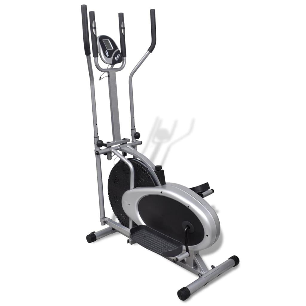 Orbitrac Bicicletă de fitness eliptică, 4 mânere pentru puls vidaxl.ro