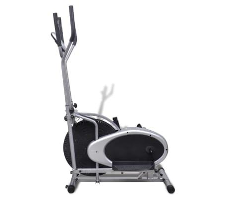vidaXL Crosstrainer met 4 stangen en hartslagmeter[4/9]